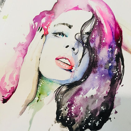 Mujer espacio