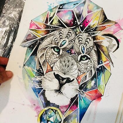 León geométrico