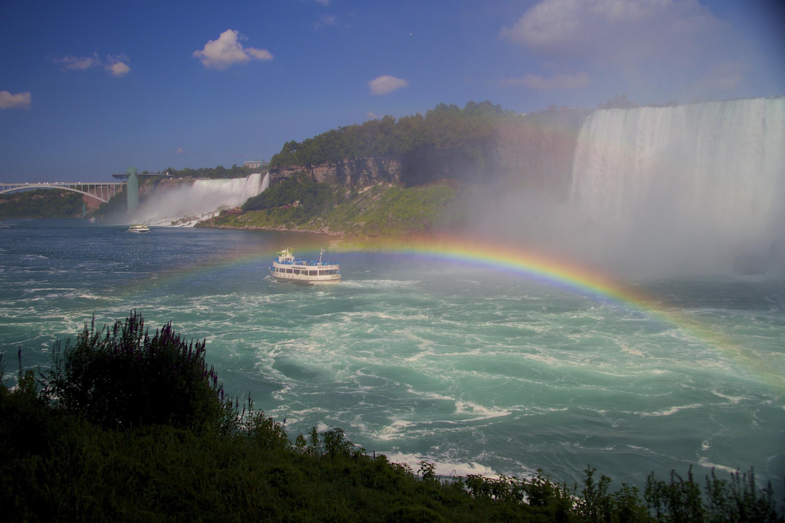 Rainbow over Maid of the Mist