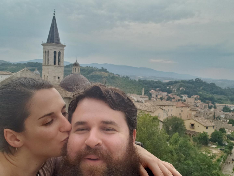 Patrick & Emma in Spoleto, Italy - Aug. 2019