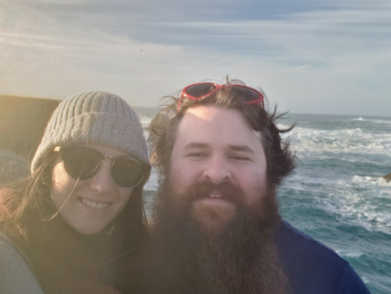 Emma & Patrick in Mendocino, CA - Jan. 2020