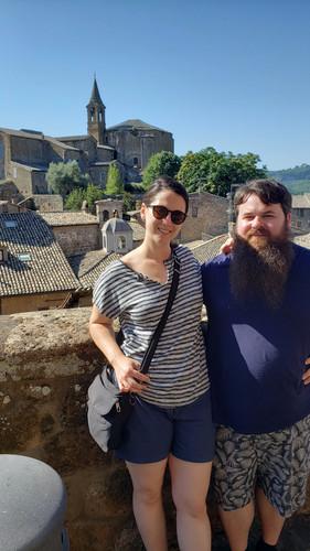 Patrick & Emma in Orvieto, Italy - Aug. 2019