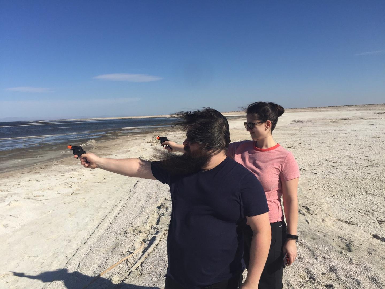 Patrick & Emma at the Salton Sea, CA - March 2020