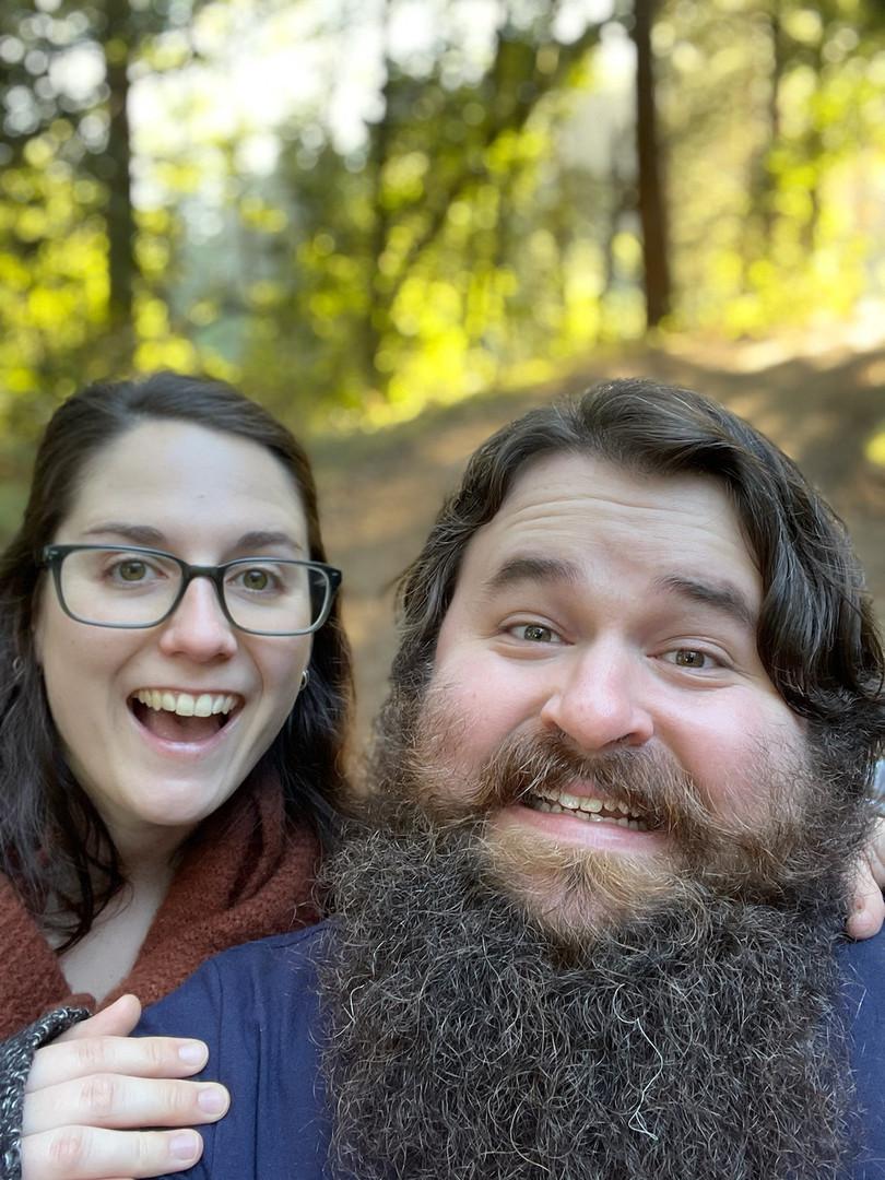Patrick & Emma along the Five Brooks Trail, CA - Nov. 2020
