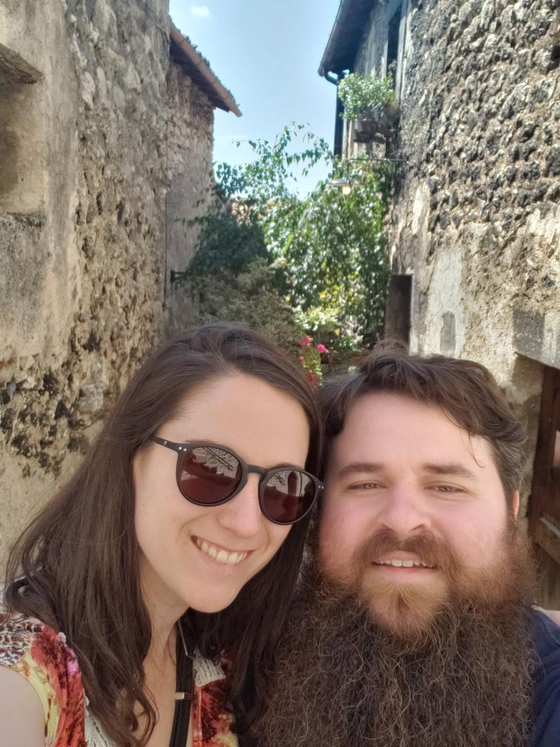 Patrick & Emma in Santo Stefano di Sessanio, Italy - Aug. 2019