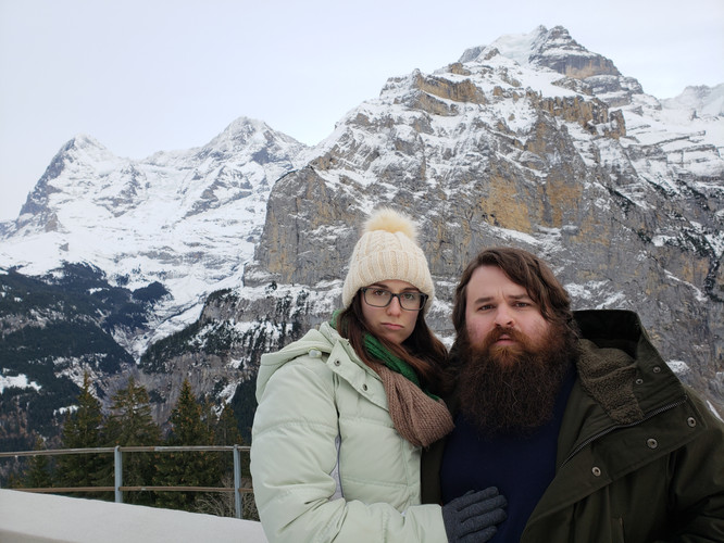 Emma & Patrick in Mürren, Switzerland - Dec. 2018