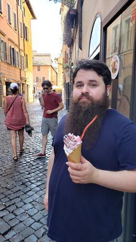 Patrick in Trastevere, Rome, Italy - Aug. 2019