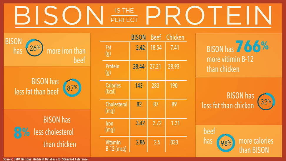 NBA Bison Nutrition Comparison