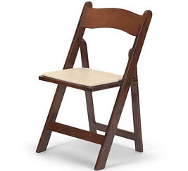 Fruitwood Folding Event Chairs