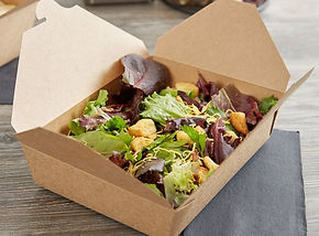 Box Container  Fold-top To-Go Container
