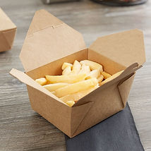 Box Container   1 Fold-top To-Go Contain