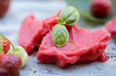 Strawberry Basil Sorbet