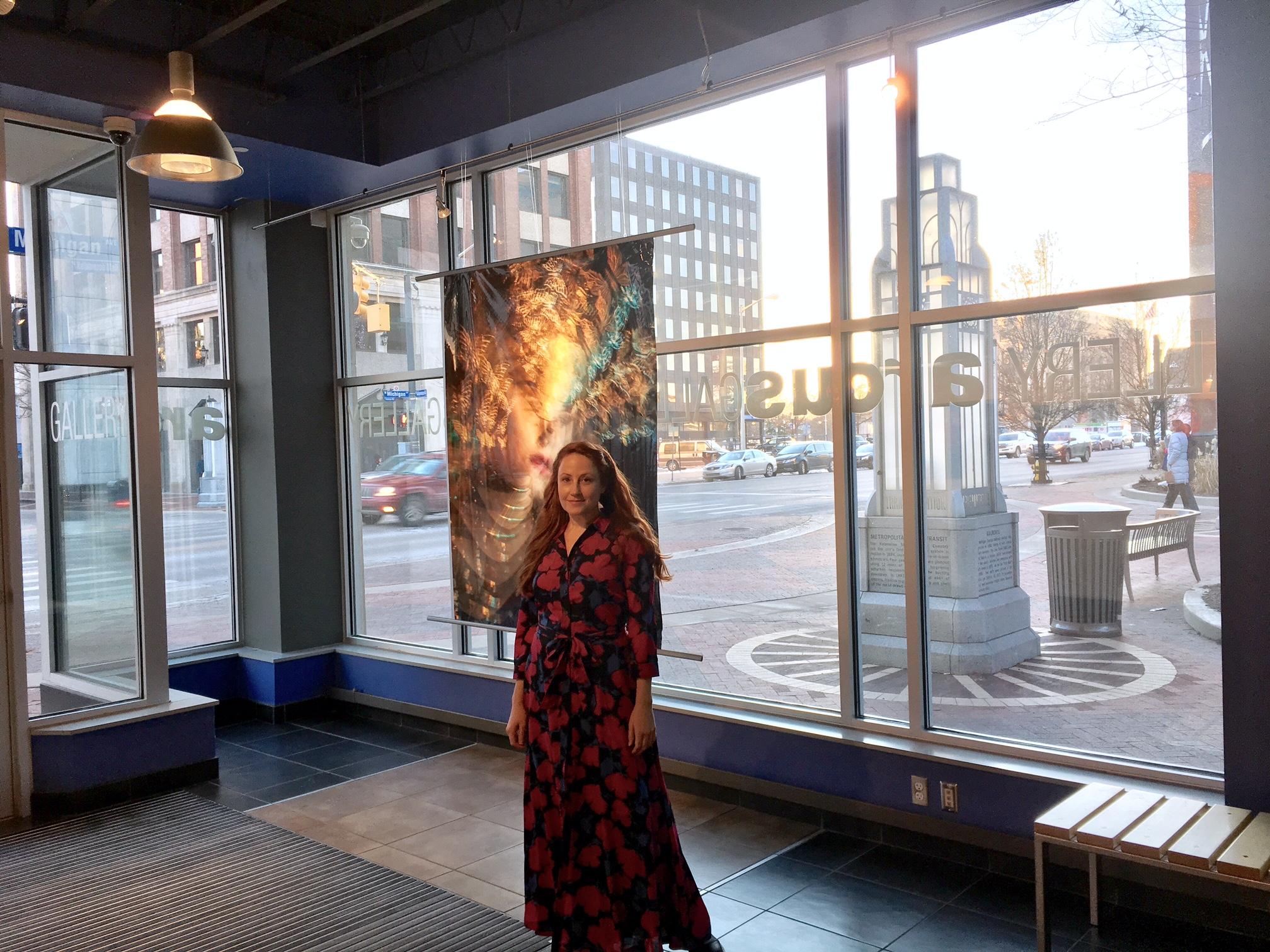 Lissa Hahn with Art