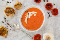 Roasted Tomato and Saffron Soup