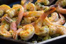 Gambas Bravas - garlicky saffron shrimp