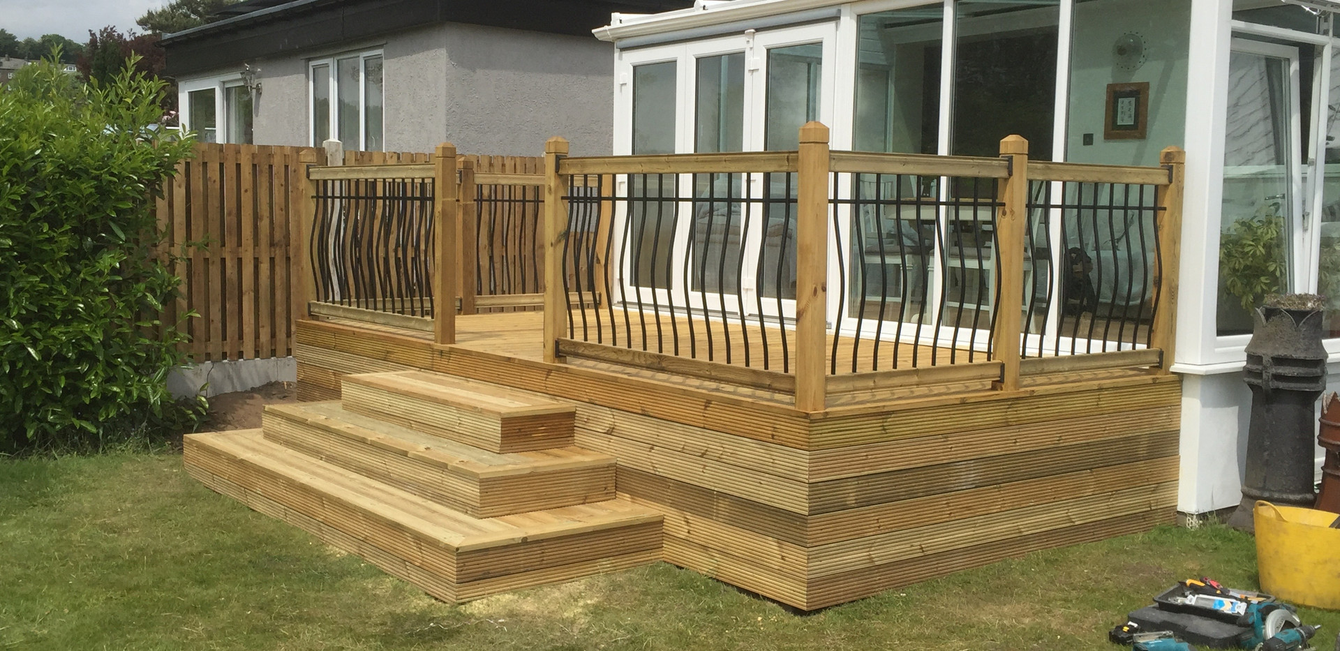 Raised Decking Area