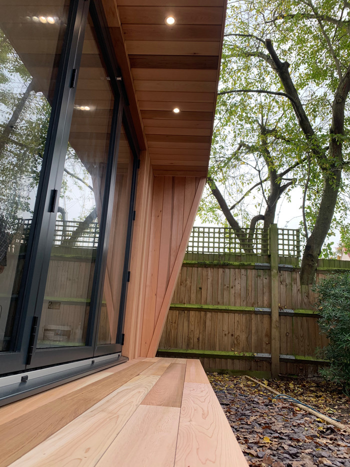 700mm front canopy and decking