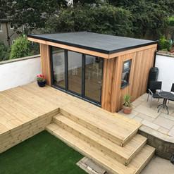 The Balmoral Garden Room, Decking, Patio and Artificial Grass