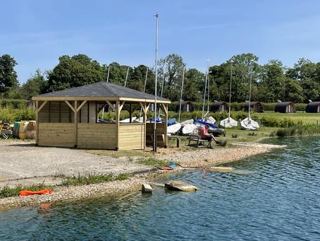 Multi-use gazebo area for a local boating club.