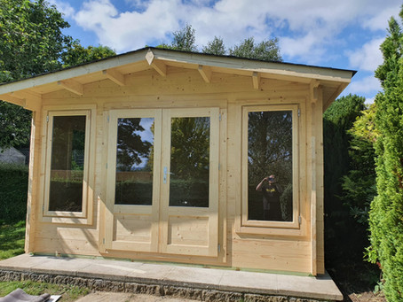 Brighton Summerhouse with mains electric connection.
