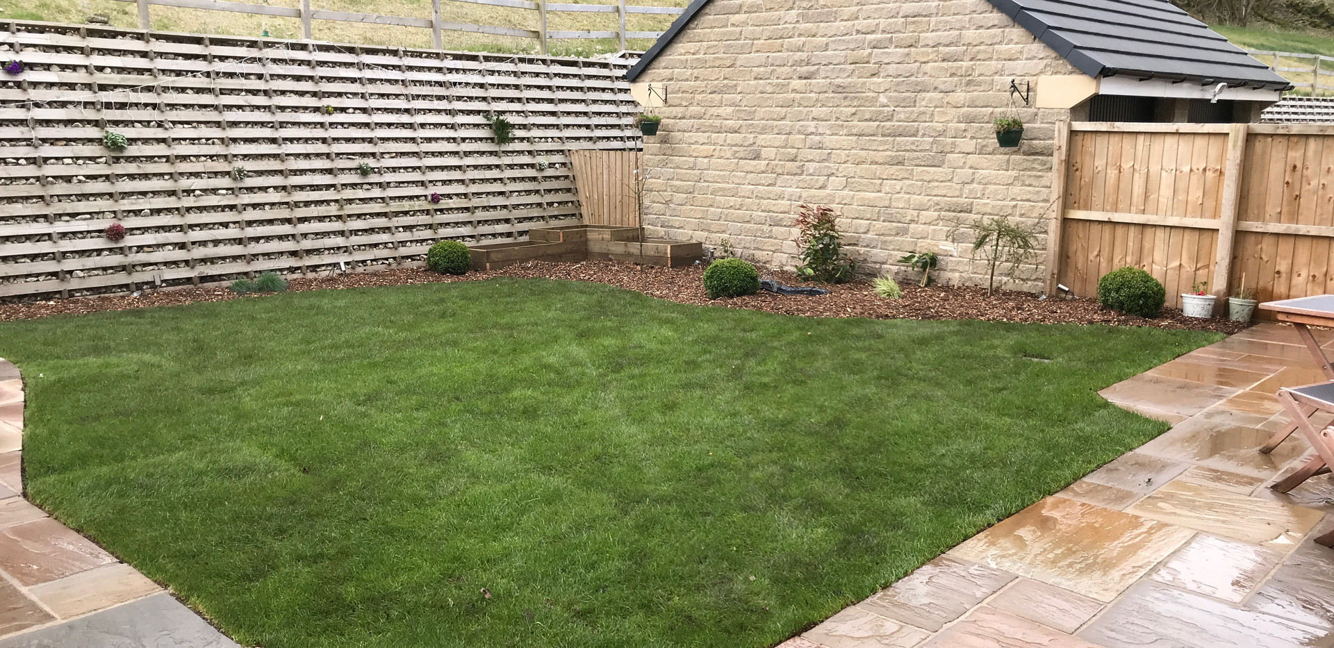 Patio and New Lawn