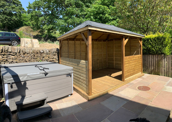 Gazebo and hot tub