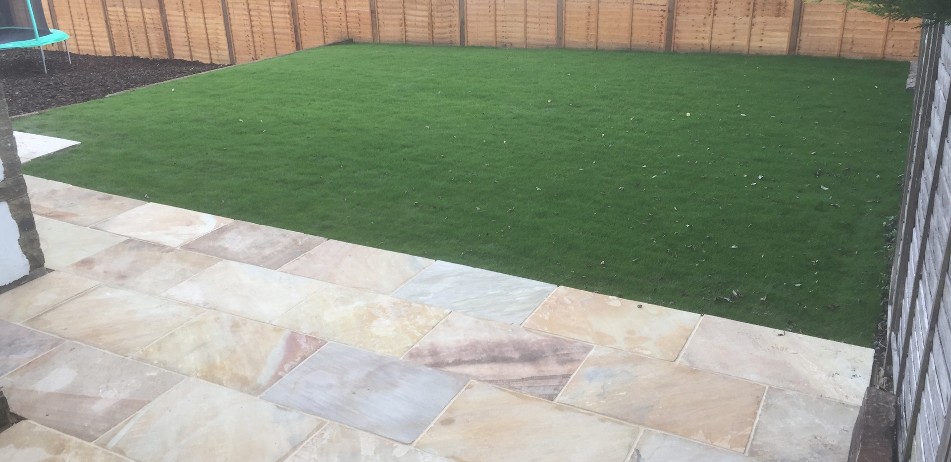 New Patio, Lawn and Fencing