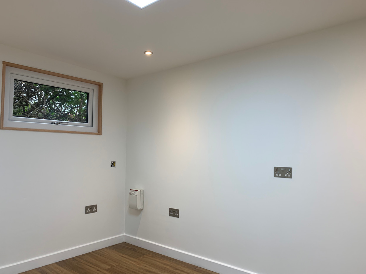 Plastered and painted finish