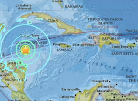 Un sismo de 7.6 de intensidad afecta costas frente a Honduras
