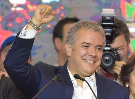 Duque presidente de Colombia.