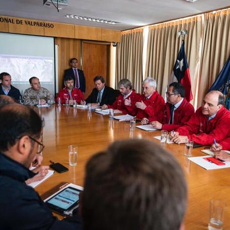 Sebastian Piñera y su posición sobre los incendios en Valparaiso