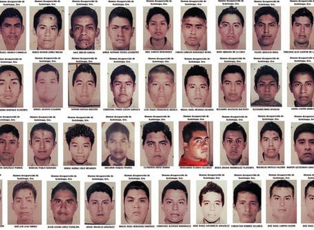 Vivos se los llevaron, y vivos los queremosTercer aniversario de los 43 estudiantes desaparecidos e
