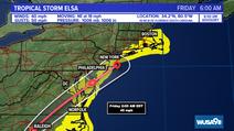 Tormenta  :tropical Elsa traerá fuertes lluvias y vientos a la región
