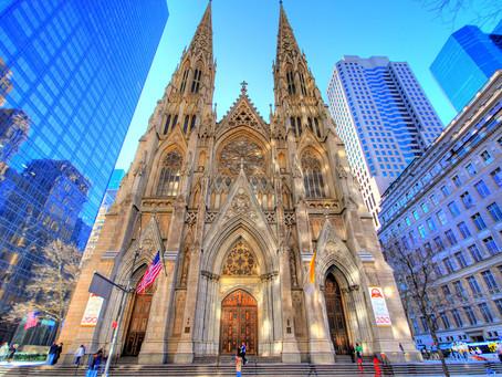 Catedral de San Patricio se viste de gala para la llegada del Papa Francisco a New York