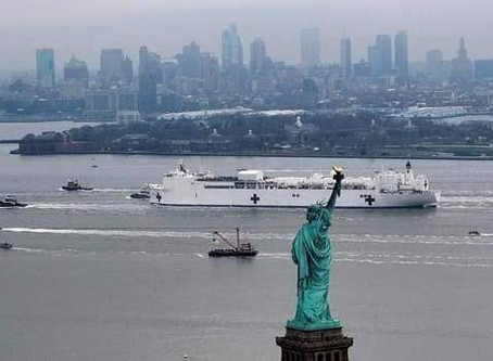 Llega a Nueva York el buque hospital USNS Comfort