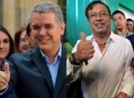 Duque y Petro irán a la segunda vuelta presidencial en Colombia