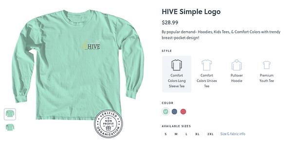 Comfort colors long sleeve HIVE shirt