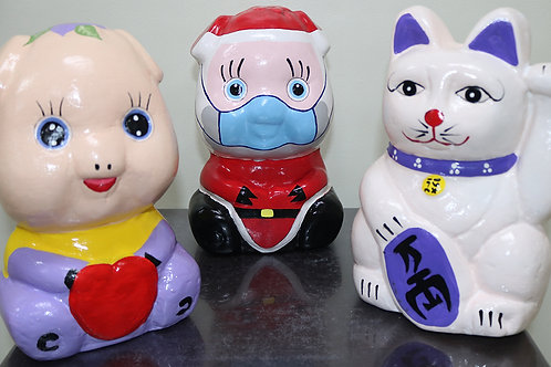 Paper Mache Coin Bank Standy