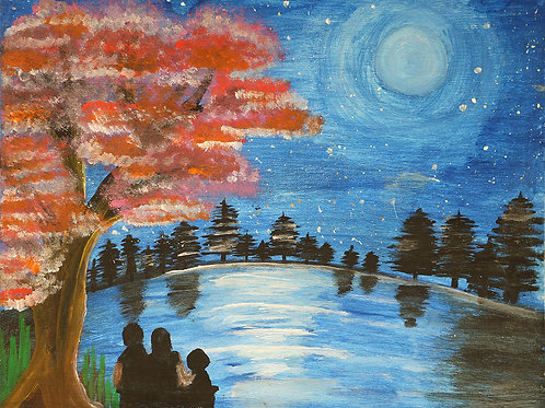 My Family Dreams in the Land in Moonlight