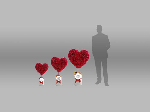 Vday Individual Components Heart Standees Ver 2 B