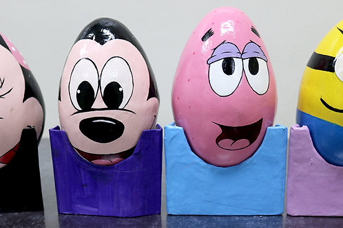 Paper Mache Egg Coin Bank
