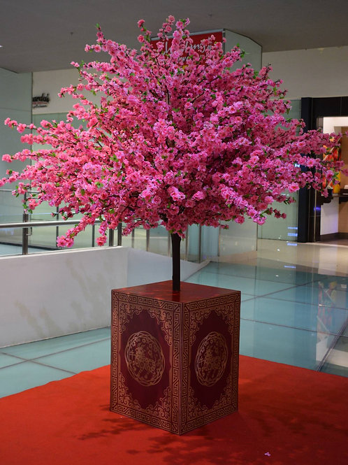 Cherry Blossom Tree on Pedestal