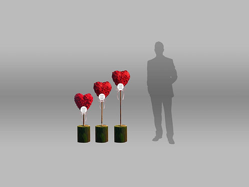 Vday Individual Components Heart Standees Ver 2 A