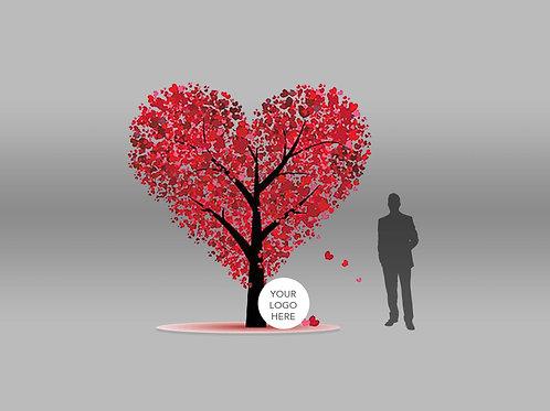 Vday Individual Components Paper Hearts Tree