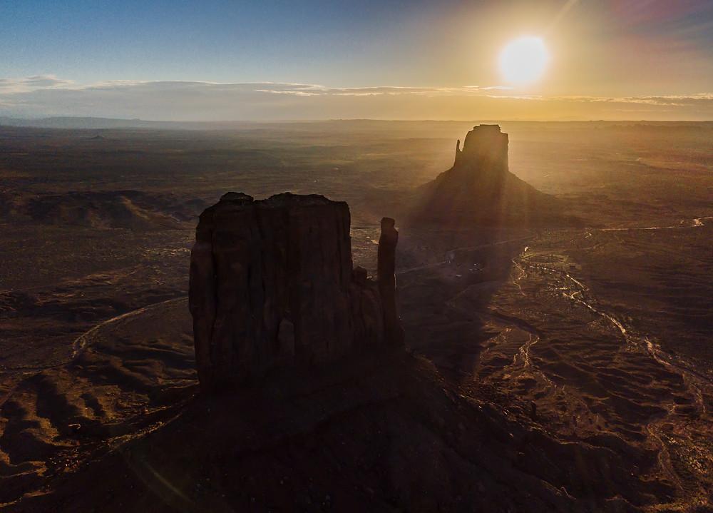l'alba nella valley ripresa dal drone dji mavicpro- axstravelblog