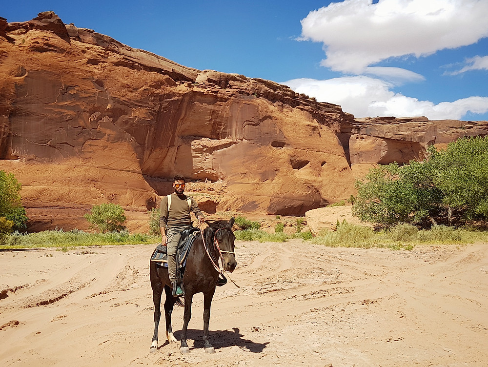 Horses Trekking inside the Canyon