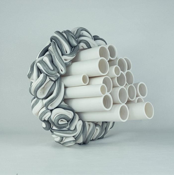 Steven Edwards_Fold 16_ceramic sculpture