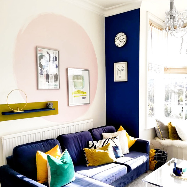 Feature wall livingroom