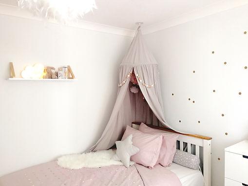 Grey children's bedroom design