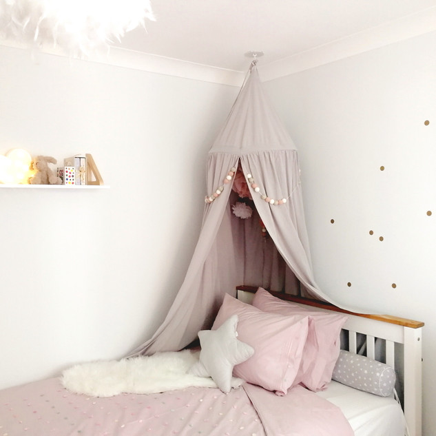 Grey children's bedroom design